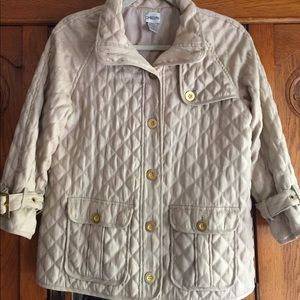 Chicos quilted Jacket 3/4 length sleeves